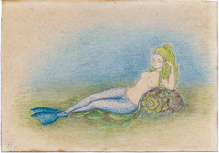 Mermaid on the shell (iolarkov) Tags: mermaid drawing art smileonsaturday picofpaper