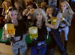 Blonde's having fun! (Blondeactionman) Tags: bamhq diorama doll photography ammoarms onesixth onesixthscale playscale phicen agentofbam jenna tashia dannii dakota jade lola harleyquinn peta
