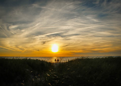 Sunset on the Sound (lablue100) Tags: colors sunset nature landscapes night people beach sky summer