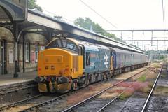 37424 at the rear of 2J78 1405 Norwich - Lowestoft 11/07/19 (chrisrowe37419) Tags: 2j78 1405 norwich lowestoft 37424 37558 largelogo anglia shortset 110719