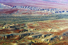 Red Rocks and Rivers via Coober Pedy, Outback South Australia (Red Nomad OZ) Tags: desert cooberpedy outback australia southaustralia aerial outdoor nature natural landscape scenery arid pattern texture river rock red