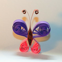 Pic of Paper! (RiverCrouchWalker) Tags: picofpaper smileonsaturday paper butterfly quilling paperfiligree curled shadows