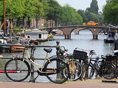 amsterdam (gerben more) Tags: amsterdam canal bike bicycle cycle water bridge netherlands nederland arch car