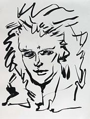 German Guitarist (sjrankin) Tags: 13july2019 edited art sketch penandink ink artbynaomi portrait grayscale