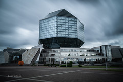 The Library (pietkagab) Tags: nationallibraryofbelarus minsk library building modern architecture city capital belarusian east eastern europe european longexposure 10stop nd filter cloudy clouds pietkagab photography piotrgaborek travel trip tourism sightseeing adventure