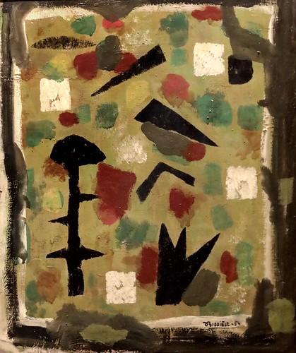 IMG_6664A Roger Bissière 1886-1964. Vert et noir. Green and black 1954 Aix en Provence. Musée Granet.