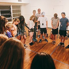 RSM Summer Camp: Thank you for praying for us! Here is a picture from large group prayer last night. ❤️ (rcokc) Tags: rsm summer camp thank you for praying us here is picture from large group prayer last night ❤️