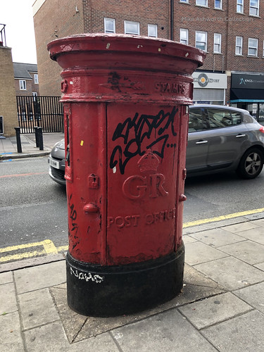 Post Office Combined Letter Pillar Box And Stamp Vending