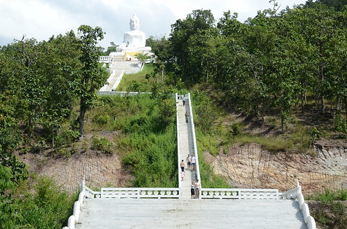 Another view of the hilltop Buddha- it's a long way up there and I did not go up