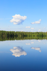 Reflection (Juh-ku) Tags: lake sky clouds reflection mirror landscape waterscape finland summer forest water still