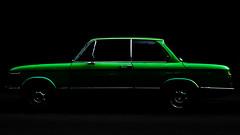 Silhouette (PDDE) Tags: bmw 1502 bmw1502 auto silhouette youngtimer grün green car darkkey dark lowkey
