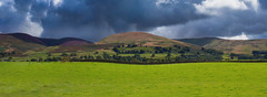 Western Dales panorama (snowyturner) Tags: yorkshire hills moors dales road fields grass clouds landscape trees panorama