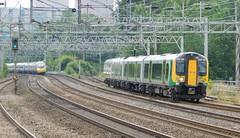 Terminating from Euston (The Walsall Spotter) Tags: rugeley trentvalley railway westcoast mainline overheadlineequipment overheadwires electric class350 desiro emu 350108 class390 pendolino networkrail britishrailways