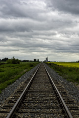 The Long Road Ahead (brentus69) Tags: alberta canada country railroad tracks traintracks leadinglines clouds nikon d4 nikond4