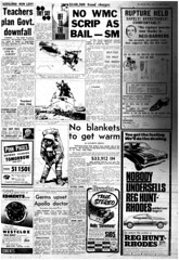 The Melbourne Herald- Monday July 14, 1969- Page 5- Apollo 11 Mission Buildup (Vax80) Tags: apollo 11 moon landing nasa national aeronautics space administration july 1969 melbourne the herald newspaper neil armstrong edwin buzz aldrin michael collins saturn command service lunar module rocket america states united australia kennedy canaveral cape
