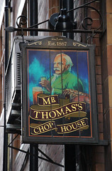 English Pub Sign - Mr Thomas Chop House, Manchester (big_jeff_leo) Tags: pub pubsign publichouse sign painted painting manchester england english