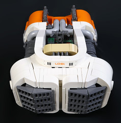 Centauri Industries Crater Maker 5000 (Blake Foster) Tags: lego space spaceship hovercar flying car hover afol moc lego:theme=space lego:scale=minifig scifi