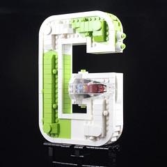 G-Wing (davekaleta) Tags: lego spaceship starfighter alphabet letter
