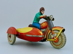 Meta, Soviet Union 1970 (lord enfield) Tags: ussr cccp russia tin toy moto motorcycle leningrad ural bmw windup vintage