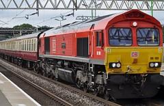 DB66100 (chriswarman) Tags: db 66100 dbschenker charter train london euston buxton cheddington class66 wheels
