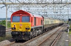 DB 66107 1Z61 (chriswarman) Tags: 66107 dbschenker db charter train wheels london euston buxton cheddington wcml passenger