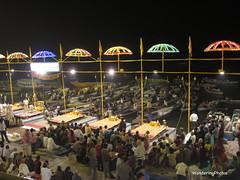 Ganga Aarti Ceremony - Varanasi India (WanderingPJB) Tags: flickruploaded umbrella riverganges hinduism aarticeremony hindureligiousritual dashashwamedhghat varanasi uttarpradesh india