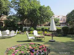 Grounds of the Rohetgarh Hotel - Rohet Rajasthan India (WanderingPJB) Tags: flickruploaded umbrella grounds rohetgarhhotel rohet rajasthan india