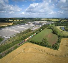 66715 passing Daw Mill (robmcrorie) Tags: 66715 class 66 gbrf daw mill colliery warwickshire phantom 4