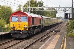 Rear Red Shed (TimboM) Tags: goostrey goostreystation 1z62 class66 railtour ukrailtours emd shed dbc dbcargo dbschenker dbs db mk1 66107 66100