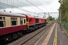 Buxton Bound (TimboM) Tags: goostrey goostreystation 1z62 class66 railtour ukrailtours emd shed dbc dbcargo dbschenker dbs db mk1 66100 armistice10019182018