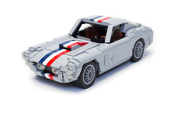 Ferrari 250 GT Berlinetta SWB (1) (Noah_L) Tags: ferrari 250 gt swb berlinetta grey gray silver light bluish sportscar sports car automobile vehicle noahl red white blue dark stripes french flag lego creation moc myowncreation