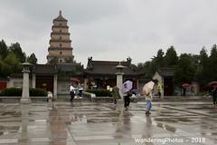 Umbrellas in front of the Great Wild Goose Pagoda - Xi'An Shaanxi China (WanderingPJB) Tags: flickruploaded umbrella