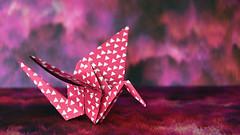 Paper Crane (linda.addis) Tags: smileonsaturday picofpaper origami