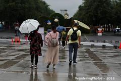 Umbrellas - Great Wild Goose Pagoda - Xi'An Shaanxi China (WanderingPJB) Tags: flickruploaded umbrella
