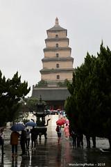 Red Umbrella & others - Great Wild Goose Pagoda - Xi'An Shaanxi China (WanderingPJB) Tags: flickruploaded umbrella