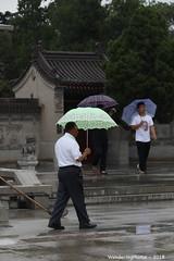 Pale green umbrella - Great Wild Goose Pagoda - Xi'An Shaanxi China (WanderingPJB) Tags: flickruploaded umbrella