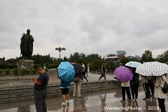 Umbrellas in the rain - Great Wild Goose Pagoda - Xi'An Shaanxi China (WanderingPJB) Tags: flickruploaded umbrella