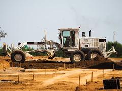 Dry hot summer. (HivizPhotography) Tags: caterpillar 120h motor grader eiffage construction earthmoving cat france tp heavy equipment machine