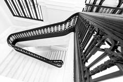 Marble Staircase B&W (jtgfoto) Tags: washingtondc sonyimages sonyalpha applestore carnegielibrary architecturalphotography architecture architecturephotography rokinon12mm rokinon mitakon35mm apple monochrome blackandwhite bnw bw mono staircase marble stairway stairs