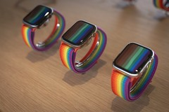 Apple Watches and Pride Bands (jtgfoto) Tags: washingtondc sonyimages sonyalpha applestore carnegielibrary architecturalphotography architecture architecturephotography rokinon mitakon35mm apple applewatch pride retail retaildisplay applewatches color colorful