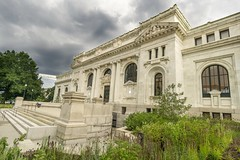 Carnegie Library Apple Store Exterior (jtgfoto) Tags: washingtondc sonyimages sonyalpha applestore carnegielibrary architecturalphotography architecture architecturephotography rokinon12mm rokinon apple exterior stormy weather moody interior wideangle wideanglephotography clouds sky