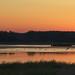 Usedom Achterwasser in abendlicher Dämmerung