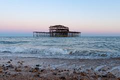 Brighton (Glennskitchen) Tags: brighton seaside dusk sunset nikon d3 35mm nikkor seascape