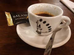 Castle hotel Macroom County Cork Ireland (sean and nina) Tags: castle hotel macroom county cork ireland irish july 2019 holiday tourist tourism indoor inside coffee cup saucer spoon biscuit decoration decorated espresso expresso kava cafe restaurant