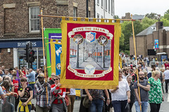 Durham Miners Gala (ca2cal) Tags: england countydurham durham durhamgala durhamminersgala miners miner gala demo people street band bigmeeting union banner darksatanicmills website