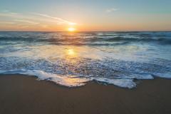 Honeymoon Sunset (Amazing Aperture Photography) Tags: ocean sea water coast westcoast blue orange yellow beach tide waves horizon beautiful earth sunset sun clouds sand twilight california america