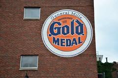 Minnesota, Minneapolis, Gold Medal (Replica Advertisement) (EC Leatherberry) Tags: goldmedalflour minneapolisminnesota hennepincounty replicaadvertisement flour washburncrosbycompany generalmills
