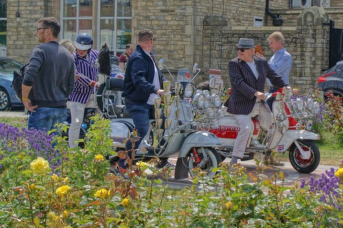 Mod scooters, Morecambe Scooter Rally 2019