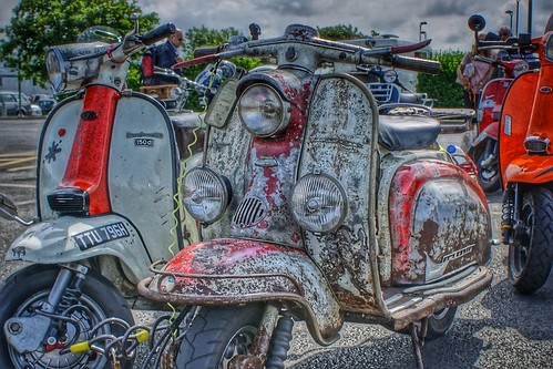 Dirty Lambretta, Morecambe Scooter Rally 2019