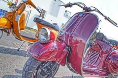 Vespas, Morecambe Scooter Rally 2019 (Gidzy) Tags: morecambe firstkick scooters scooterists lancashire vespaclubofgreatbritain morecamberidesagain 2019 vespa lambretta vintage summer seaside coast retro sony sonyuser sonyalpha sonya77ii sonyslt